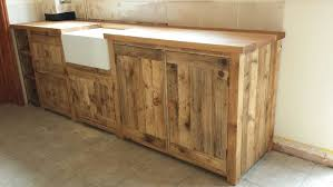 Stand Alone Kitchen Furniture Belfast Sink Unit Solid Wood Freestanding Kitchen Unit