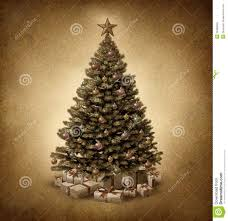 fashioned christmas tree fashioned christmas tree stock photo image 34388650