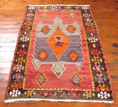 kilim rug tribal turkish carpet colorful ethnic bohemian home