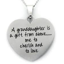 granddaughter necklace a granddaughter is a gift from above granddaughter necklace