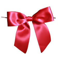 ribbon with wire pre satin bows
