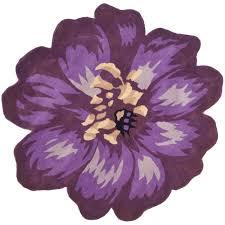 safavieh handmade novelty lilac shaped wool rug 5 u0027 round free