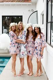 and bridesmaid robes le gifts bridesmaid robes floral robes by lerosegifts
