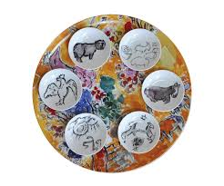 seder dishes bernardaud marc chagall joseph tribe seder platter dishes set