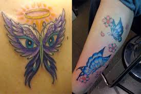 butterfly designs and meanings tattoos
