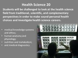 Human Anatomy Careers Saskatchewan Senior Science Curriculum Renewal Prerequisites For