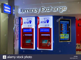 bureau change atm s automatic teller machine machines at bureau de change office