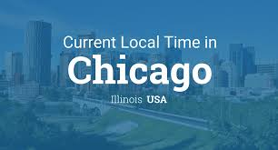 Where Is Chicago In The Us Map by Current Local Time In Chicago Illinois Usa