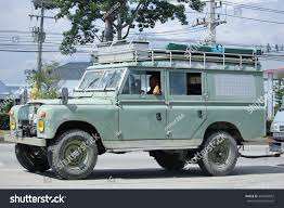 old land rover chiangmai thailand november 12 2015 old stock photo 363484853