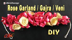 diy flower garland gajra veni for indian wedding how to make