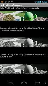 android bitmap android coding convert bitmap from color to grayscale using