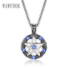 blue stainless steel necklace images Blue crystal pentacle necklace pendant beauty essentials jpg