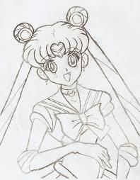 sailor moon pencil art by yukahime on deviantart