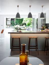 Breakfast Bar Pendant Lights Lights Above Breakfast Bar Kitchen Contemporary With Black Subway