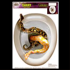 gothic halloween prop snake toilet topper tattoo cling decal