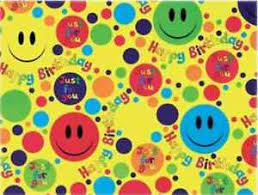 kids wrapping paper 2 sheets gift wrapping paper happy birthday boy girl kids smiley