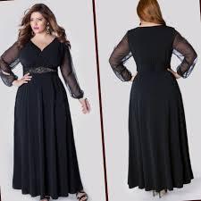 plus size long black evening dresses pluslook eu collection
