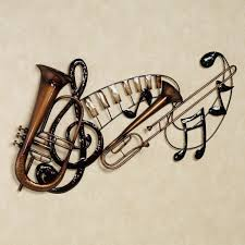 Musical Home Decor by Artistic Metal Wall Art Decor Music Heart Notes Musical Clef