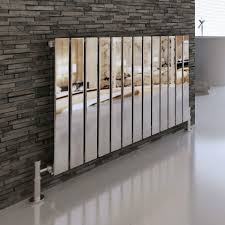 kitchen radiator ideas modern designer chrome flat panel horizontal radiator heater