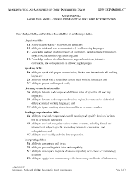 Resume Resume Skills And Abilities by Skills And Attributes For A Resume Free Resume Example And