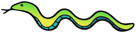 clipart snake colour