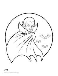 Halloween Bats Coloring Pages by Vampire Moon Halloween Coloring Page Clipart Fort