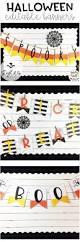 Happy Birthday Halloween Banner by Halloween Pennant Banners Editable Bulletin Board Language