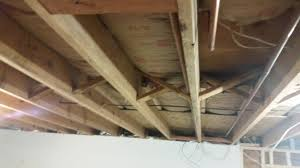 basement ceiling sound insulation basements ideas