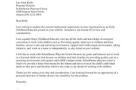 cover letter for early childhood educator cover letter for preschool sle cover letter for