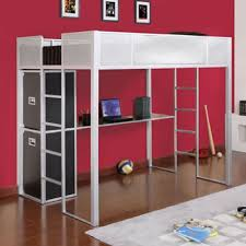 Powell Rock And Roll Full Size Metal Loft Bed With Study Desk - Full size bunk bed with desk