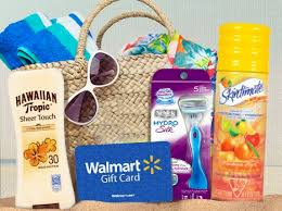 summer gift basket win a summer gift basket walmart gift card razor sunscreen and