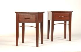 Cherry Wood Nightstands Bedroom Furniture Cherry Wood Nightstand With Single Drawers And