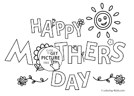 mother u0027s day coloring pages for kids printable free