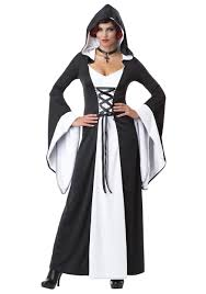 vampire witch costume deluxe white hooded robe