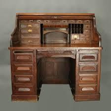 Roll Top Desk Oak Antique Standard Furniture Co Oak Raised Panel Roll Top Desk