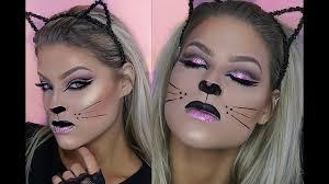 halloween makeup tutorial glam kitty youtube