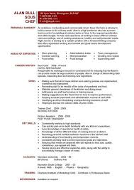 Resume Profile Summary Sample by Sous Chef Resume Personal Summary Duties And Skills
