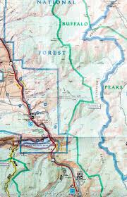Colorado Trail Map by Trail Map Of Collegiate Peaks Wilderness Area Colorado 148