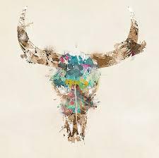 Bulls Flag Bull Art Fine Art America