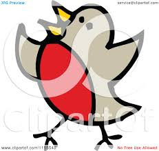 cartoon of a robin bird royalty free vector illustration by