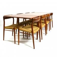 Arts And Crafts Dining Room Set by Mid Century Danish Teak Dining Set By Niels O Møller For J L