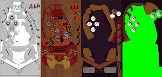 Visual Pinball Tables by Paul Lohman Tech Art Double Nuggets Station U0026 Saloon Visual