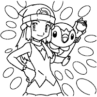dawn pokemon coloring pages images pokemon images