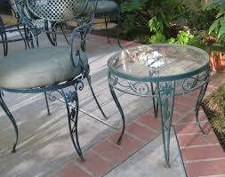 Rod Iron Patio Table And Chairs Vintage Wrought Iron Patio Table And Chairs U2013 Outdoor Ideas