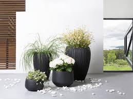 planter plant pot tall vase indoor outdoor black 33x33x35 cm
