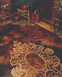 Decorative Floor Painting Ideas Large Designer Floor Stencils Faux Painted Carpet Design