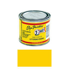 1 4 pint 1 shot chrome yellow paint lettering enamel pinstriping