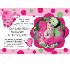 butterfly birthday invitation with photo birthday