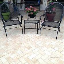 Retro Patio Furniture Side Table Vintage Metal Patio Side Table Round Metal Patio Side