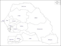 Dakar Senegal Map Senegal Free Map Free Blank Map Free Outline Map Free Base Map